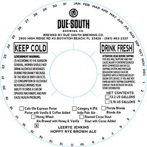 Due South Brewing Co. Leerye Jenkins