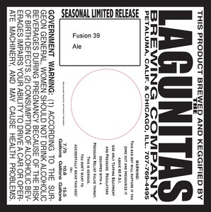 Image result for lagunitas fusion 39