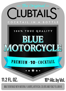 Clubtails Blue Motorcycle