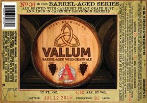 Avery Brewing Company Vallum Barrel-aged Wild Grape Ale