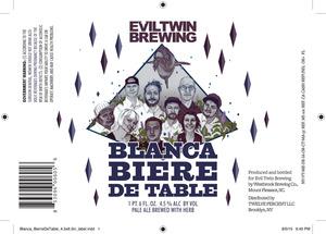 Evil Twin Brewing Blanca Biere De Table