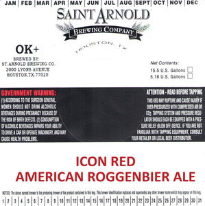 Saint Arnold Brewing Company Icon Red American Roggenbier