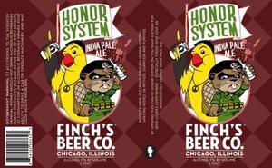 Finch's Beer Company LLC Honor System Rye IPA