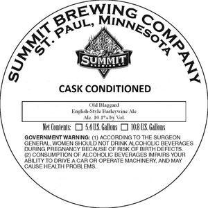 Summit Brewing Company Old Blaggard
