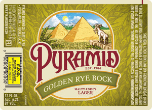 Pyramid Golden Rye Bock