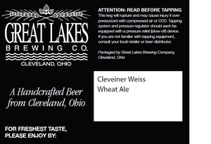 The Great Lakes Brewing Co. Cleveliner Weiss