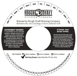 Rough Draft Brewing Company Wet Hop Eraser