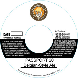 Florida Beer Company Passport 20
