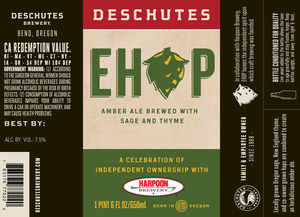 Deschutes Brewery Ehop