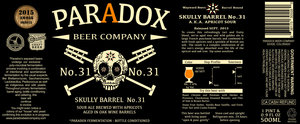 Paradox Beer Company Skully Barrel No. 31