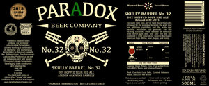 Paradox Beer Company Skully Barrel No. 32