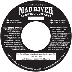 Mad River Brewing Company Port Barrel John Barleycorn