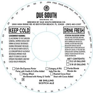 Due South Brewing Co. 88 Shilling Scotch Ale