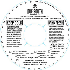 Due South Brewing Co. Oaked Pico Duarte