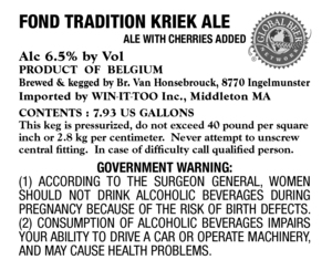 St. Louis Fond Tradition Kriek