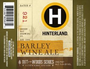 Hinterland Barley Wine Ale