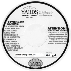 Yards Brewing Company Garces Group Pale Ale