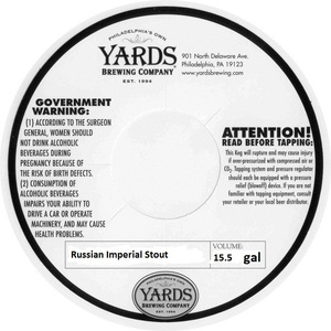 Yards Brewing Company Russian Imperial Stout