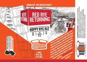 Carton Brewing Co. Red Rye Returning