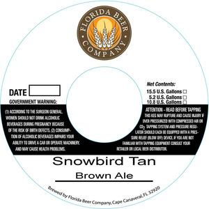 Florida Beer Company Snowbird Tan