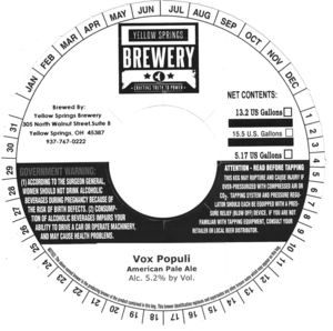 Yellow Springs Brewery Vox Populi