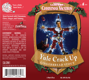 Fish Tale Ales Yule Crack Up Gingerbread Stout