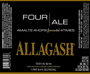 Allagash Brewing Company Four