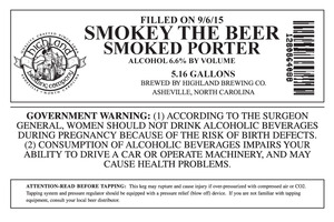 Highland Brewing Co. Smokey The Beer
