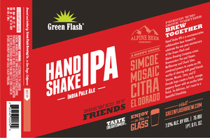 Green Flash Brewing Company Hand Shake IPA