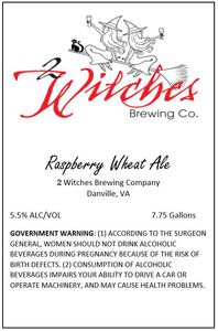 2 Witches Brewing Company Raspberry Wheat Ale