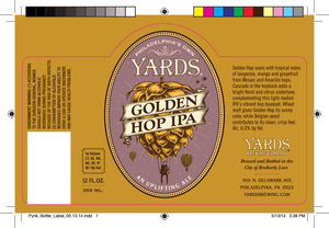 Yards Brewing Company Golden Hop India Pale Ale