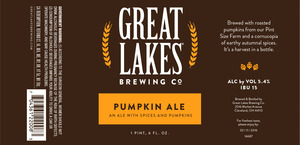 The Great Lakes Brewing Co. Pumpkin