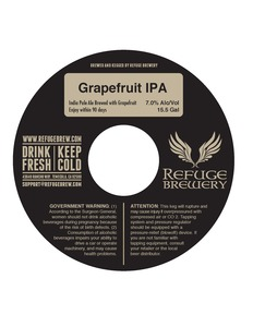 Refuge Brewery, Inc. Grapefruit IPA