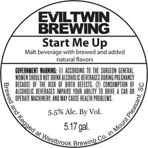 Evil Twin Brewing Start Me Up