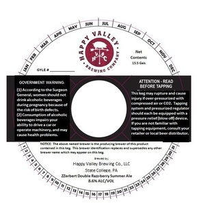 Zzerbert Double Razz-berry Summer Ale October 2015