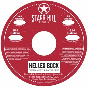 Starr Hill Helles Bock