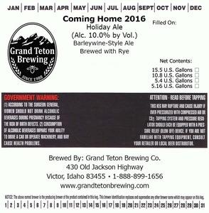Grand Teton Brewing Coming Home