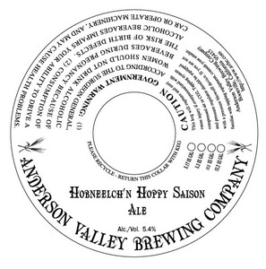 Anderson Valley Brewing Company Hobneelch'n Hoppy Saison