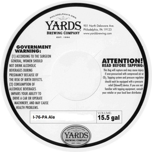Yards Brewing Company I-76-pa Ale