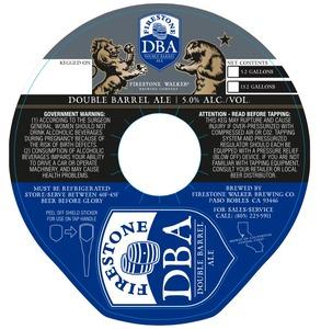 Firestone Walker Brewing Company Dba Bouble Barrel Ale