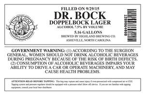 Highland Brewing Co. Dr. Bock