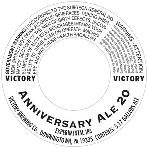 Victory Anniversary Ale 20