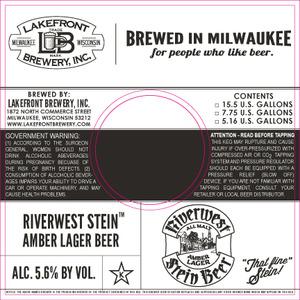 Lakefront Brewery Riverwest Stein