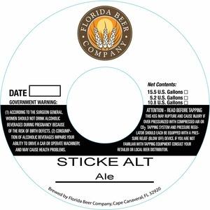 Florida Beer Company Sticke Alt