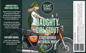Right Brain Brewery Naughty Girl Stout
