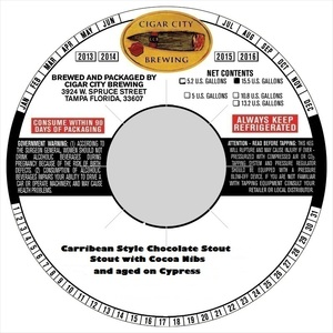 Cigar City Brewing Caribbean Style Chocolate Stout