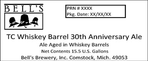 Bell's Tc Whiskey Barrel 30th Anniversary Ale