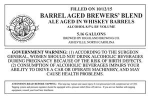 Highland Brewing Co. Barrel Aged Brewers' Blend