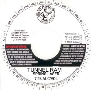 Atwater Brewery Tunnel Ram