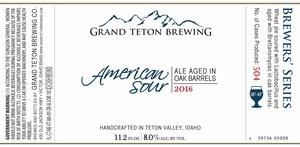 Grand Teton Brewing Company American Sour 2016